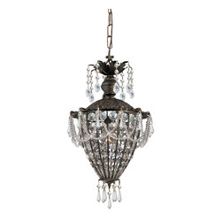 Crystorama - Crystorama Vanderbilt Pendant Light X-PWM-LC-BE-1615 - Named for American aristocracy, our Vanderbilt collection includes style and class. The Victorian-style collection is finished in a rich English bronze and adorned with clear hand polished crystal jewels.