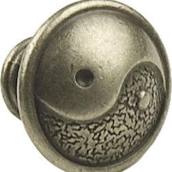Century Hardware - Dynasty Knob, Antique Silver - Zinc Die Cast, Knob