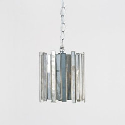 Faceted Mirrored Pendant- Small - Clayton Gray Home -