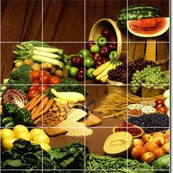 Picture-Tiles, LLC - Fruits Vegetables Photo Backsplash Tile Mural 13 - * MURAL SIZE: 36x24 inch tile mural using (24) 6x6 ceramic tiles-satin finish.