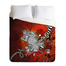 DENY Designs - Iveta Abolina Wild Lilly Duvet Cover - Turn your basic, boring down comforter into the super stylish focal point of your bedroom. Our Luxe Duvet is made from a heavy-weight luxurious woven polyester with a 50% cotton/50% polyester cream bottom. It also includes a hidden zipper with interior corner ties to secure your comforter. it's comfy, fade-resistant, and custom printed for each and every customer.