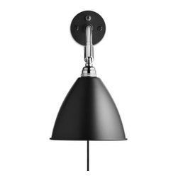 Bestlite - Bestlite BL7 Wall Lamp - Bring the best of the Bauhaus movement into your house with this classic wall lamp. First produced in the UK, the powder-coated, aluminum and chrome wall fixture is both functional and sleek. A sure-shot choice for any industrially designed home or office, it's certain to bring a classic glow to your living or work space.