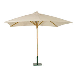 Westminster Teak Furniture - Teak Rectangular Umbrella - Available in 95 Sunbrella Color Fabrics.  78 inches W x 118 inches Long.  Parasol Base Sold Separately. 1.95 Inch Diameter Pole. 8 ft 8 Inches high.