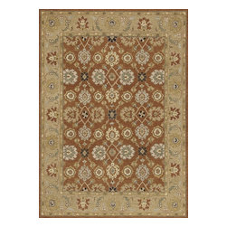 """Loloi Rugs - Hand Knotted Laurent Transitional Rug LRNTLE-02RFMO - 8'-6"""" x 11'-6"""" - Hand-knotted of 100% wool from India, the Laurent Collection features a series of soumak rugs that add a touch of casual elegance to traditional and transitional rooms alike. Available in a series of hand-dyed earthy colors, Laurent combines a well textured surface with updated traditional designs that reflect today's interior trends."""