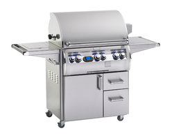 Fire Magic - Echelon E660s4E1N71 Standing Digital NG Cabinet Grill - E660 Stand Alone with 110 VAC/12 Volt Hot Surface Ignition, Rotisserie Backburner & Double Side Burner
