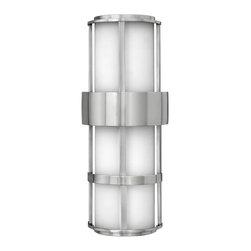 Hinkley Lighting - Hinkley Lighting 1909SS Saturn Stainless Steel Outdoor Wall Sconce - Hinkley Lighting 1909SS Saturn Stainless Steel Wall Sconce