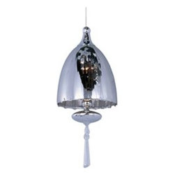 ET2 - ET2 Minx RapidJack Pendant Light (Pack of 4) X-NS18-81069PE - Chute collection's blown glass domes, available in Matte White or Mirror Chrome, suspend in the air by adjustable cables. Highlighted by the light are matching glass ornaments and beveled crystal finials. Unique canopies and hardware of Polished Chrome add to the eclectic nature of this design.