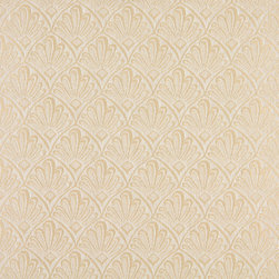 Beige And Ivory Two Toned Fan Upholstery Fabric By The Yard - P2111 is great for residential, and commercial applications. This fabric will exceed at least 35,000 double rubs (15,000 is considered heavy duty), and is easy to clean and maintain.