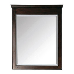 Avanity - Avanity Mirrors Windsor 36 in. L x 30 in. W Wall Mirror in Walnut brown - Shop for Decor at The Home Depot. The Windsor 36 in. x 30 in. poplar framed mirror features a walnut finish with simple lines. It matches the Windsor vanities for a coordinated look and includes mounting hardware that makes leveling easy. The mirror can be hanged vertically. Color: Brown.