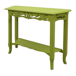 Trade Winds - New Trade Winds Console Table Green Painted - Product Details