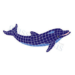 Ocean Pool Mosaic - Large Dolphin Pool Accents Blue Pool Glossy Ceramic - We offer six lines of in-stock designs ready for immediate delivery including: The Aquatic Line, The Shadow Line, The Hang 10 Line, The Medallion Line, The Garden Line and The Peanuts Line. All of the mosaics are frost proof, maintenance free and guaranteed for life. Our Aquatic Line includes: mosaic dolphins, mosaic turtles, mosaic tropical and sport fish, mosaic crabs and lobsters, mosaic mermaids, and other mosaic sea creatures such as starfish, octopus, sandollars, sailfish, marlin and sharks. For added three dimensional realism, the Shadow Line must be seen to be believed. Our Garden Line features mosaic geckos, mosaic hibiscus, mosaic palm tree, mosaic sun, mosaic parrot and many more. Put Snoopy and the gang in your pool or bathroom with the Peanuts Line. Hang Ten line is a beach and surfing themed line featuring mosaic flip flops, mosaic bikini, mosaic board shorts, mosaic footprints and much more. Select the centerpiece of your new pool from the Medallion Line featuring classic design elements such as Greek key and wave elements in elegant medallion mosaic designs.