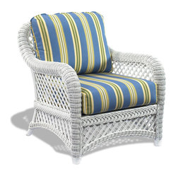 Lanai White Wicker Chair