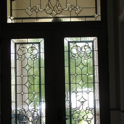 Custom beveled glass doors -