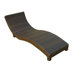 Great Deal Furniture - Cabo Outdoor Wicker Chaise Lounge Chair - We guarantee that you have never seen a more beautiful chair than the Cabo Wicker Chaise Lounge Chair. It's natural colors combine with its exotic styling to create a one-of-a-kind design that is perfectly suited for use beside a pool.