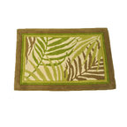Sherry Kline - Sherry Kline Sago Palm 20 x 30 Bath Rug - Avoid slipping on wet bathroom floors with this decorative bath rug placed wherever you stand after bathing. The rug is highly-absorbent, soaking up the water dripping from you as you dry off to keep the floor from brcoming wet and slippery.