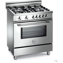 Bertazzoni X304PIRX 30&quot; Pro-Style Dual-Fuel Range with 4 Sealed Burners, 3.4 cu.