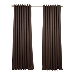 Exclusive Fabrics & Furnishings, LLC - Java Grommet Doublewide Blackout Curtain - SOLD PER PANEL. 100% Polyester. Grommet. Unlined. Imported. Weighted Hem. Dry Clean Only.