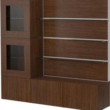 BESTÅ Storage combination - walnut effect - IKEA