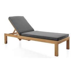 Regatta Chaise Lounge with Sunbrella ® Charcoal Cushion -