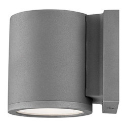 W.A.C. Lighting - W.A.C. Lighting WS-W2605-GH Tube Modern / Contemporary LED Outdoor Wall Sconce - Precise engineering using the latest energy efficient LED technology with a built-in reflector for superior optics: An appealing cylindrical profile perfect for accent and wall wash lighting.