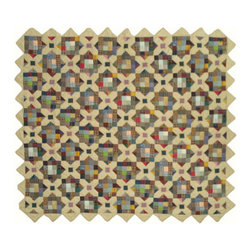 Patch Quilts - Treasures In The Attic Quilt King 105 x 95 Inch - Intricate patchwork and beautiful hand quilting  - Bedding ensemble from Patch Magic  the name for the finest quality quilts and accessories  - Machine washable  - Line or Flat dry only Patch Quilts - QKTIAT