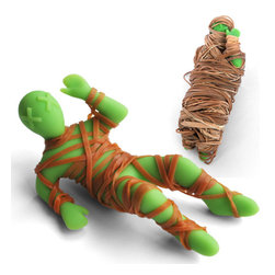 """Mummy Mike Rubber Band Holder - With this """"mummy"""" at hand you'll never have to dump out your entire desk drawer in search of a rubber band again."""