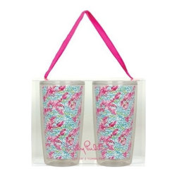 Lilly Pulitzer - Lilly Pulitzer Insulated Tumbler Set, Lobstah Roll - Get chilled with our Lilly Pulitzer Insulated Tumbler, where you can keep your drinks cool and its classy better look will make you centre of attraction. This double walled tumbler which holds 16 ounce capacity drink is perfect for poolside refreshment or the everyday bustle with your loved one.