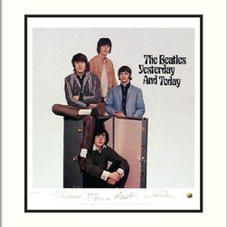 Amanti Art - The Beatles: Yesterday and Today (Album Cover) Framed Print - Display your Beatlemania with album cover artwork from this 1966 release. Beautifully matted and framed, this hand-numbered print bears the stamped signatures of the Fab Four themselves.