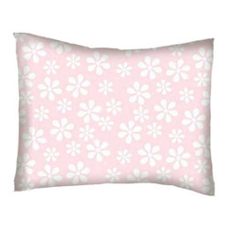 SheetWorld - SheetWorld Twin Pillow Case - Percale Pillow Case - Pastel Pink Floral Woven - Twin pillow case. Made of an all cotton flannel fabric. Side Opening. Features the one and only pastel pink floral woven!