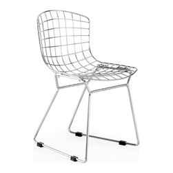 Zuo - Baby Wire Chair Sold as Set of 2 - The Baby Wire chair goes perfect in any space with kids and has a super durable chrome base.  Available in chrome. Cushion sold separately. Sold as a set of two (package cannot be broken).