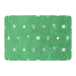 """KESS InHouse - Snap Studio """"Cheery Pattern Green"""" Mint Memory Foam Bath Mat (24"""" x 36"""") - These super absorbent bath mats will add comfort and style to your bathroom. These memory foam mats will feel like you are in a spa every time you step out of the shower. Available in two sizes, 17"""" x 24"""" and 24"""" x 36"""", with a .5"""" thickness and non skid backing, these will fit every style of bathroom. Add comfort like never before in front of your vanity, sink, bathtub, shower or even laundry room. Machine wash cold, gentle cycle, tumble dry low or lay flat to dry. Printed on single side."""