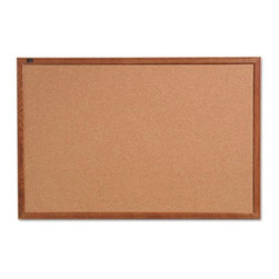 Quartet - Quartet 24 x 18 in. Cork Bulletin Board with Oak Frame Multicolor - QRT85212 - Shop for Bulletin Boards from Hayneedle.com! Post messages and notes on the Quartet 24 x 18 in. Cork Bulletin Board with Oak Frame. This bulletin board has a cork surface that is sturdy and durable. The frame is made of wood adding to its durability. It features maximum pin-holding power and has self-healing property that eliminates pin holes. For added convenience this cork bulletin board comes with mounting hardware. Apt for offices and schools this board is a must-have.About United StationersDedicated to making life in the office more organized efficient and easier United Stationers offers a wide variety of storage and organizational solutions for any business setting. With premium products specifically designed with the modern office in mind we're certain you will find the solution you are looking for.From rolling file carts to stationary wall files every product in the United Stations line is designed with one simple goal: to improve office efficiency. In turn you will find increased productivity happier more organized employees and an office setting that simply runs better with the ultimate goal of increasing bottom line profits.
