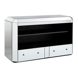 Standard Furniture - Standard Furniture Mirage Mirrored Rectangular Console Table - Modern and glamorous, Mirage Tables have a contemporary sophistication that reflects today's modern lifestyle.