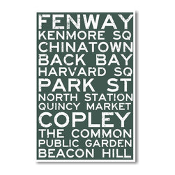 PosterEnvy - Boston Signs - NEW World Travel Massachusetts Train Poster - Boston Signs - NEW World Travel Massachusetts Train Poster