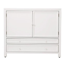 Martha Stewart Living Craft Space Storage Cabinet, Picket Fence - This cabinet will provide perfect storage when you need to stow away your craft supplies.