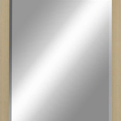 Paragon Decor - Beveled Mirror, Flat Blonde Wood, 22x28 - Mirror, Mirror, on the wall, who's the most beautiful mirror of them all? Reflect your impeccable taste with this contemporary-style mirror, which features a gorgeous flat blonde wood frame and high-quality interior beveled mirror. This piece measures 25 inches wide, 1 inch deep, and 31 inches high.