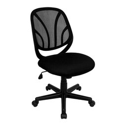 Flash Furniture - Flash Furniture Y-GO Mid-Back Black Mesh Computer Task Chair - GO-WY-05-GG - Why Go When You Can Stay? The Y-GO task chair and computer chair from Flash Furniture is a Mid-Back chair that packs style and comfort into unmatched usability. This office chair features a black mesh back with flex bars which conform to the natural curve of the user's back. The flex back with the padded foam seat makes this a valuable addition to any home office, professional office or school business department. [GO-WY-05-GG]