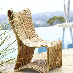 Horchow - Eco-Logic Woven Chair - A pair of these curvy cool chairs would be a welcome poolside addition this spring and summer.