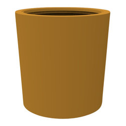 Decorpro - Large Vienna Planter, Spanish Gold - The Vienna planter is a more traditionally shaped pot. The round shape allows this planter to fit in with a wide variety of settings both indoors and outdoors.