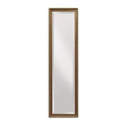 Bassett Mirror - Tall Rectangular Floor Cheval Mirror in Bronz - Decorative mirror. 17 in. L x 63 in. H (24 lbs.)