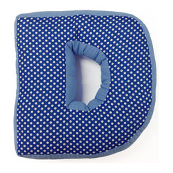 "Simplicity Blue - Letter Pillow ""D"" - Our letter pillows are a fun way to make your child's bedroom more personal for them.  Made from our collection's bright colorful fabrics, it is sure to be a favorite of any child."