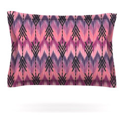 "Kess InHouse - Amanda Lane ""Indigo Orchid Chevron Arrows"" Pink Purple Pillow Sham (Woven, 40"" x - Pairing your already chic duvet cover with playful pillow shams is the perfect way to tie your bedroom together. There are endless possibilities to feed your artistic palette with these imaginative pillow shams. It will looks so elegant you won't want ruin the masterpiece you have created when you go to bed. Not only are these pillow shams nice to look at they are also made from a high quality cotton blend. They are so soft that they will elevate your sleep up to level that is beyond Cloud 9. We always print our goods with the highest quality printing process in order to maintain the integrity of the art that you are adeptly displaying. This means that you won't have to worry about your art fading or your sham loosing it's freshness."