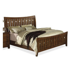 Riverside Furniture - Craftsman Home Bed in Americana Oak Finish (Full) - Choose Bed Size: Full