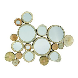 EcoFirstArt - MIRROR CIRKEL - Stunning Mirror made of driftwood, steel and mirror.
