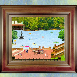 Framed Artscapes - Central Park, New York - This 24x20 framed fine artwork is available for $450.00.  This original art is registered with the Library of Congress. This limited edition fine art print on canvas will be signed and numbered by the artist. A Certificate of Authenticity will accompany this framed artwork.  Central Park is also available in two additional sizes, 30x24 and 40x30.  Please contact us for pricing.
