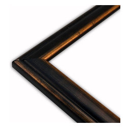 The Frame Guys - Brushed Black/Gold Picture Frame-Solid Wood, 10x10 - *Brushed Black/Gold Picture Frame-Solid Wood, 10x10