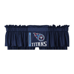 Sports Coverage - NFL Tennessee Titans Football Logo Locker Room Valance - FEATURES: