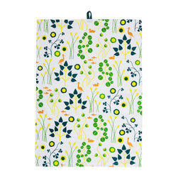 Hanna's Dish Towels - Set of 2 - Made from 100% cotton, this whimsical set of 2 dish towels feels soft to the touch and uplifts just about any kitchen interior.