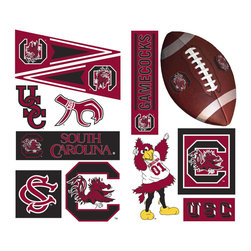York Wallcoverings - South Carolina Gamecocks 21pc College Wall Accent Stickers - Features: