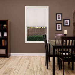"""Blinds.com Aluminum Blinds - 1/2"""" Aluminum Mini Blind. Whites and off-whites,Neu - 1/2"""" Aluminum Mini Blind - Buy with Confidence, Get Free Samples Today!Custom made 1/2"""" Micro Aluminum Mini Blinds by Blinds.com offer a sleek, elegant look. More durable than vinyl blinds, they are all made out of 8 gauge aluminum, for added strength and durability. Mini blinds have crash proof cord locks, baked on enamel f"""